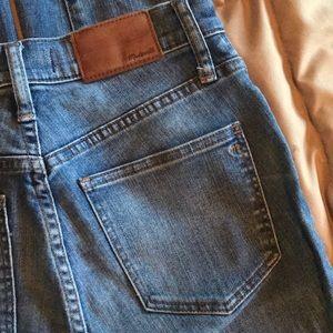 Madewell eco wash ankle fringe skinny jean